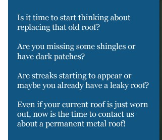 Time To Start Thinking About Your Roof, Did The Winter Ice And Snow Damage  Your Roof? Well We Can Offer You A Roof That You Will NEVER Have ...
